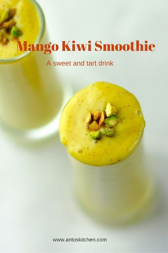 Mango kiwi smoothie is a healthy and refreshing breakfast smoothie with fresh fruits and yogurt. This smoothietastescreamy, sweet and tart. A healthy and refreshing smoothie: Mango kiwi smoothie is a sweet and healthy drink with mango,kiwi,and yogurt. Mango and kiwi are packed with vitamins and anti-oxidant. Yogurt is an excellent source of protein and calcium....Read More »