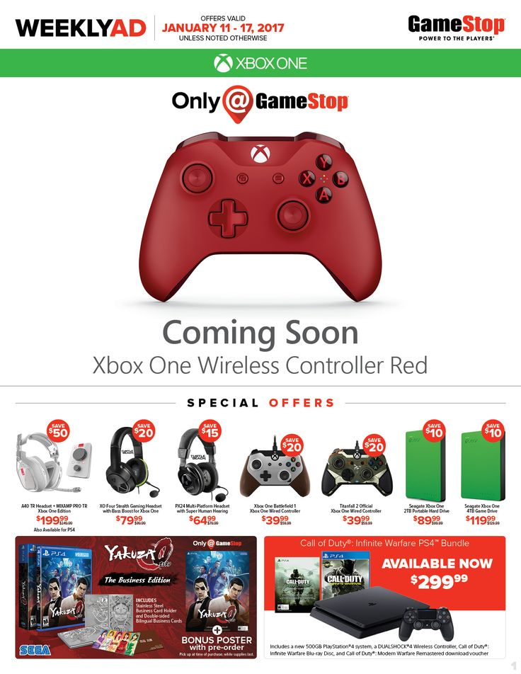 Game Stop Weekly Ad January 11 - 17, 2017 - http://www.olcatalog.com/game-stop/game-stop-weekly-ad.html