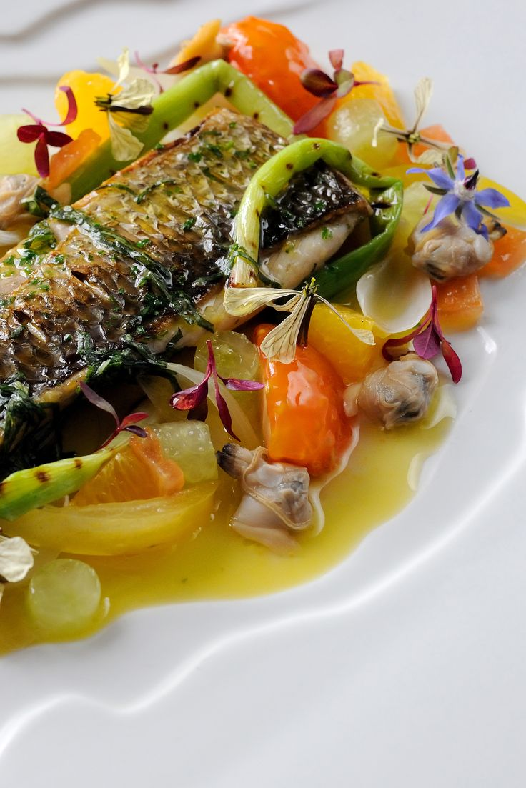 Silver mullet - which is also known as grey mullet - is a fantastic sustainable seafood option which carries a similar flavour to sea bass and remains available all year round. Here, Simon Hulstone uses the fish as the centrepiece to a wonderfully simple recipe.