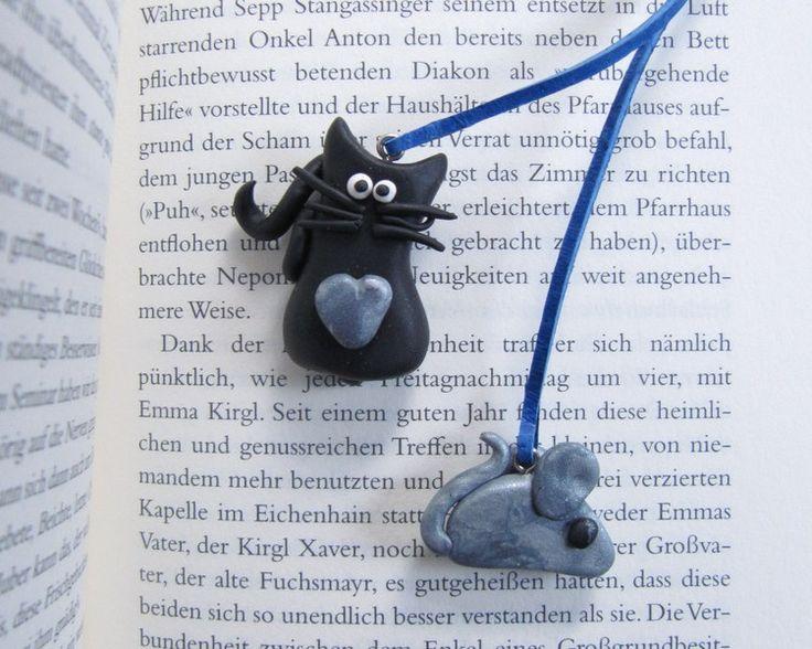 Weiteres - Lesezeichen Katze& Maus - ein Designerstück von MIO-O bei DaWanda