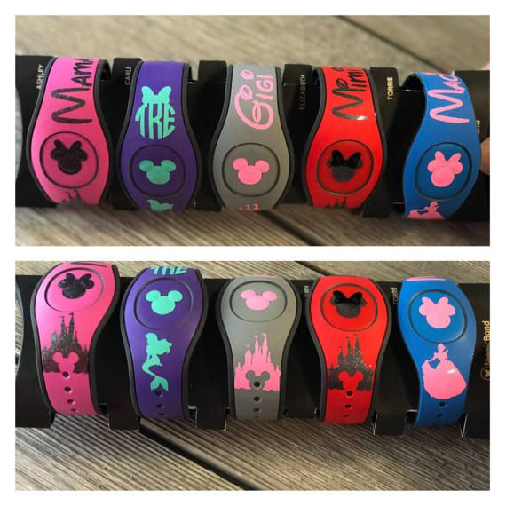 Magic Band 2.0 Decal  Disney Inspired Charcters  Castle