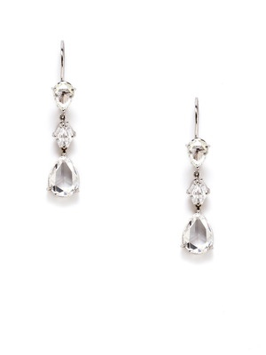 Diamond & Platinum Multi-Drop Earrings