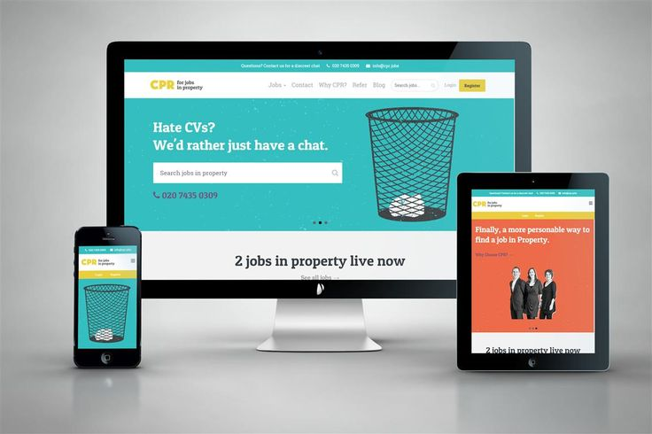 Website design and development for Collins Property Recruitment.