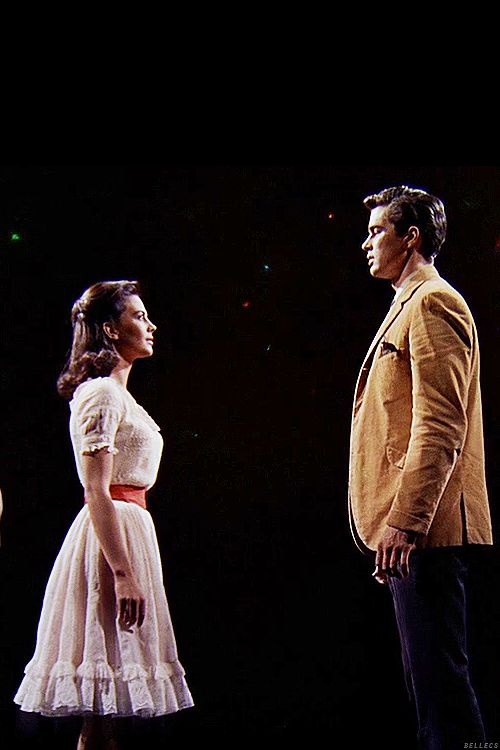 West Side Story - Maria (Natalie Wood) and Tony (Richard Beymer) meeting at the gym