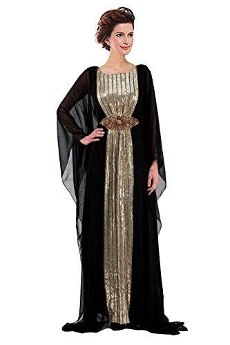 cool Angelonline Women's Sequined Chiffon Long Abaya Muslim Maxi Dress -Made of the Chiffon and sequin Floor-Length ,Long Sleeves If you like other colors,please feel free to contact with us. -http://weddingdressesusa.com/product/angelonline-womens-sequined-chiffon-long-abaya-muslim-maxi-dress/