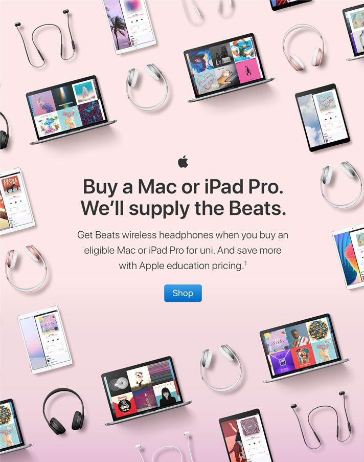 Buy A Mac Or Ipad Pro We Ll Supply The Beats Get Beats Wireless Headphones When You Buy An Eligible Ma Beats Headphones Wireless Wireless Headphones Ipad Pro