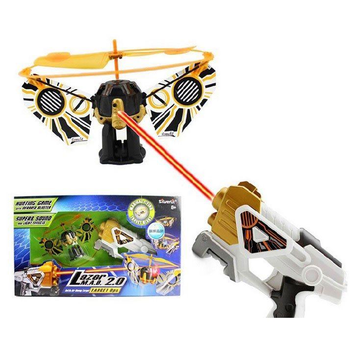 Entraîne tes réflexes et ta rapidité avec ce pistolet laser ultra-rapide et sa cible qui s'envole seule et tombe dès que tu arrives à la toucher !