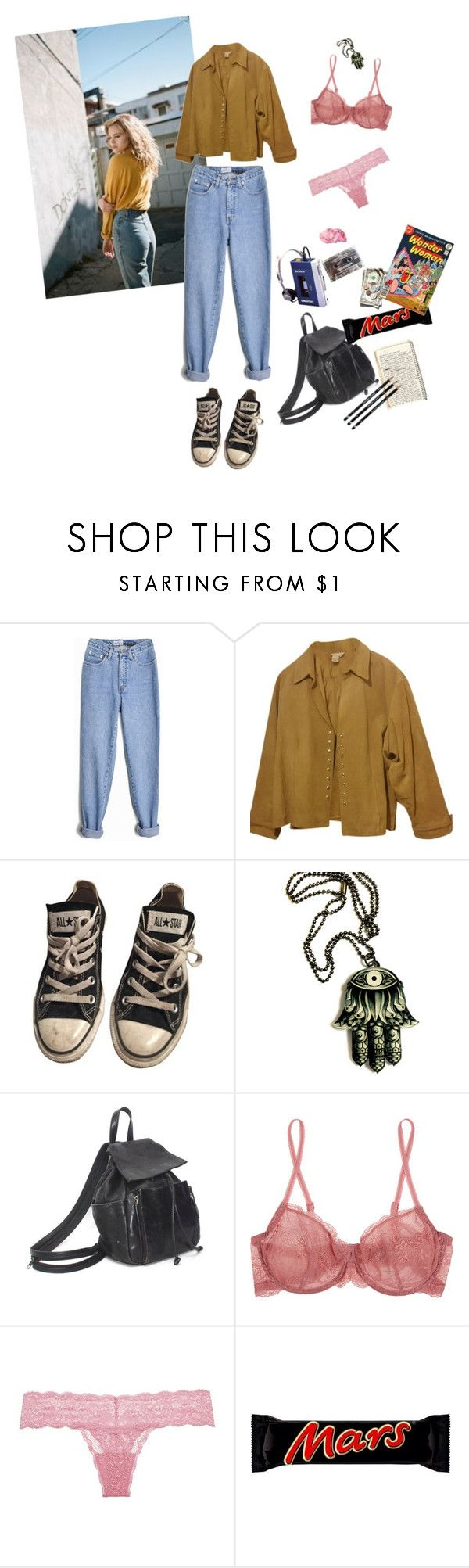 """90's"" by vilcsi888 on Polyvore featuring Sony, Coldwater Creek, Converse, Cosabella, Riegel and plus size clothing"