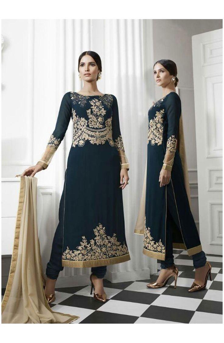 dazzling-navy-blue-georgette-salwar-suit.jpg (810×1239)