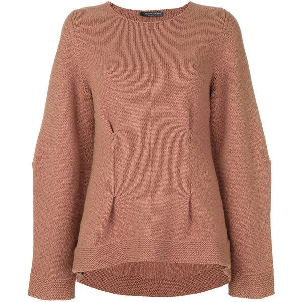 Alexander McQueen cashmere sweater (15.345.295 IDR) ❤ liked on Polyvore featuring tops, sweaters, beige, wool cashmere sweater, long sleeve tops, beige long sleeve top, goth sweaters and long sleeve sweater
