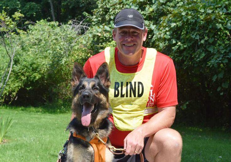 Meet Klinger, the First Certified Running Guide Dog   Runner's World