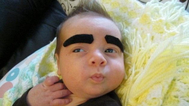 The strangest baby eyebrow pictures ever