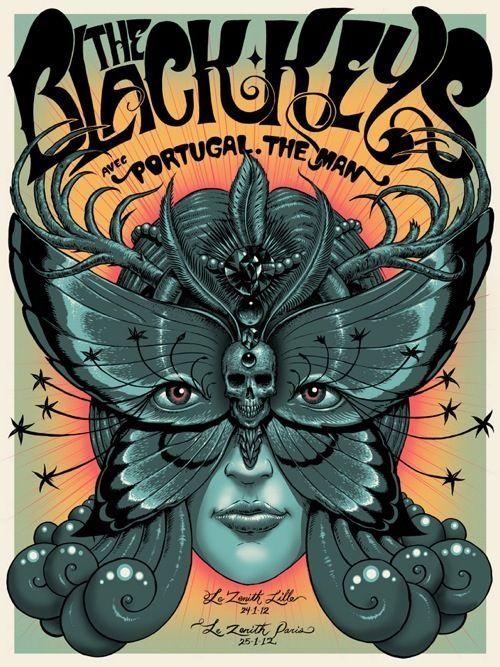 A New Poster for The Black Keys by Jeff Soto PotatoStamp.com.
