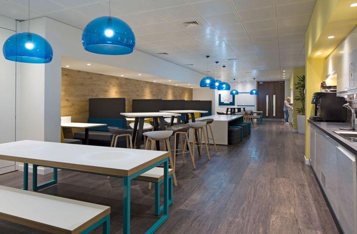 Willis Towers Watson - Welwyn Garden City. Copyright: Workplace Creations Ltd. #wpclondon #breakout #teapoint #social #modern #office #design #officedecor #fitout #interiordesign #itmatters