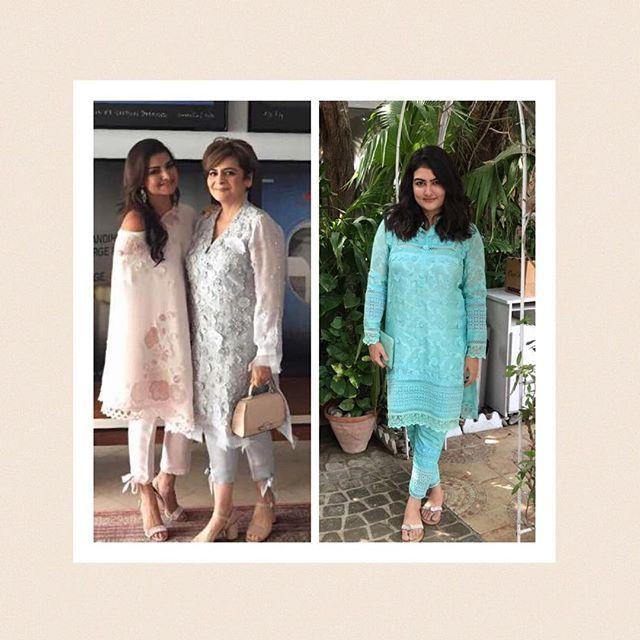 Leila, Aliya and Fareeha, gorgeous on Eid in #SugarRushbyNazliAkbar. Walk-ins welcome at the boutique Mondays to Saturdays from 3 PM - 6 PM. #NazliAkbar #NazliAkbarGirls #readytowear #luxurypret #formals #Karachi #Pakistan