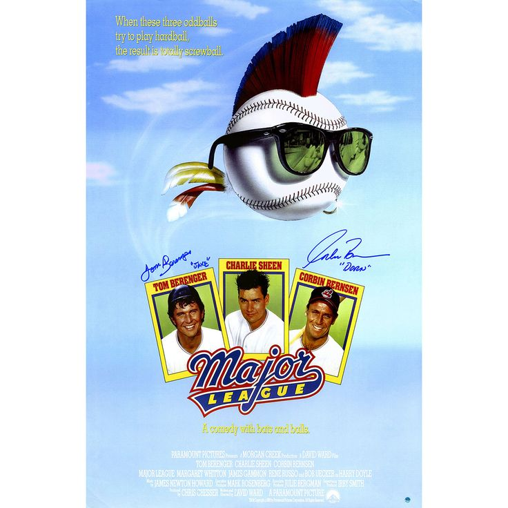 Tom Berenger/Corbin Bernsen Dual Signed Major League 24x36 Movie Poster