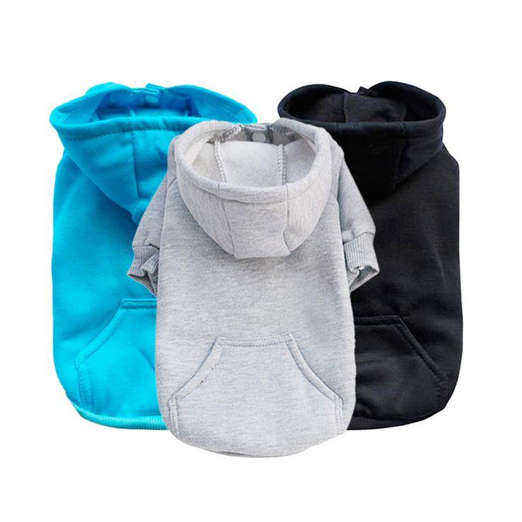 2016 de La Moda Azul Negro Gris Mascotas Ropa Para Perros Sudadera Con Capucha Para El Invierno Caliente Lindo Cachorro Escudo S, M, L, XL(China (Mainland))