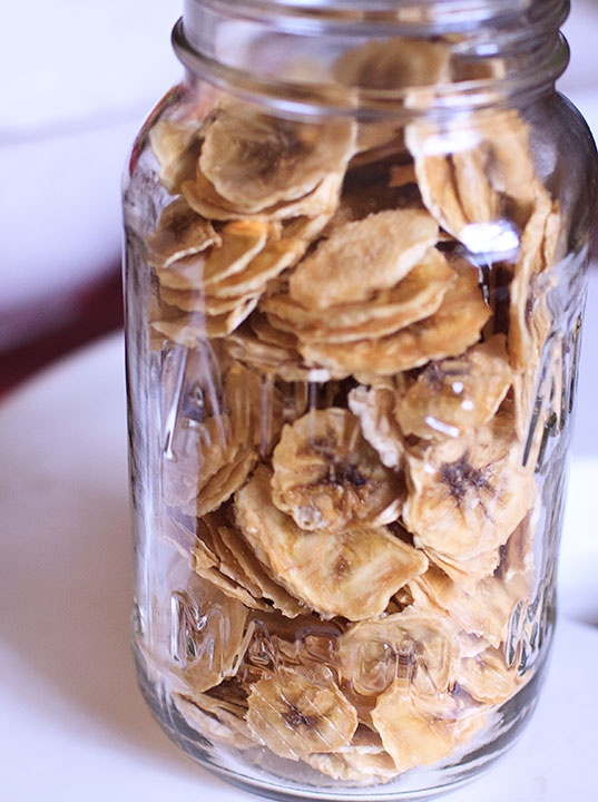 Dehydrated Banana Chips Dehydrator Recipes Pinterest