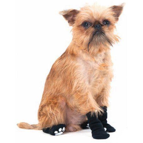 Fashion Pet Lookin Good Solid Slipper Socks for Dogs, Medium, Black - http://www.thepuppy.org/fashion-pet-lookin-good-solid-slipper-socks-for-dogs-medium-black/