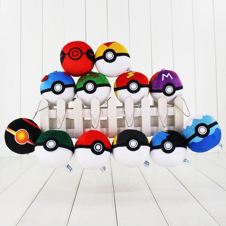 12 Pçs/lote Novo Pokeball Pokébola Plush Doll Macio Stuffed Toy 7 cm Pikachu de Pelúcia para as crianças Presentes Frete Grátis em de no AliExpress.com | Alibaba Group