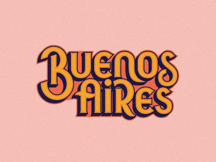 Buenos Aires lettering by Vincent Conti