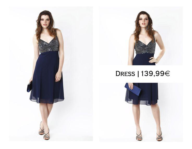 Dark blue dress with sparkles...