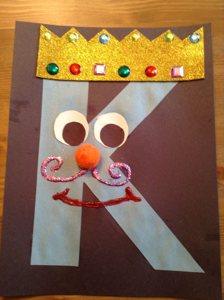 K is for King - March 10 - Letter Craft