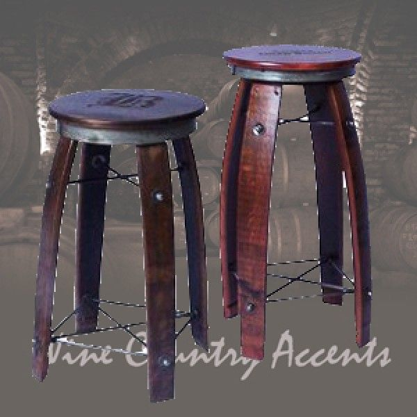 Daisy 2 Day Designs Wine Barrel Stave Bar Stool Swivel Top Wine Country Accents In 2020 Wine Barrel Furniture Wine Barrel Bar Stools Bar Stools