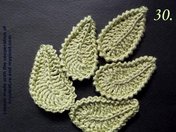 MyPicot | Free crochet patterns - leaf
