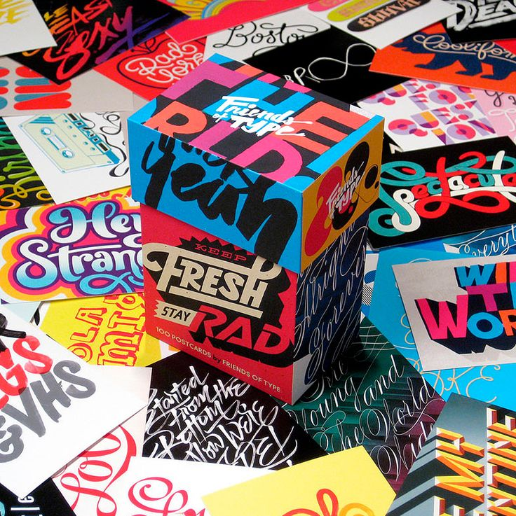 Keep Fresh, Stay Rad Typography Cards by Friends of Type