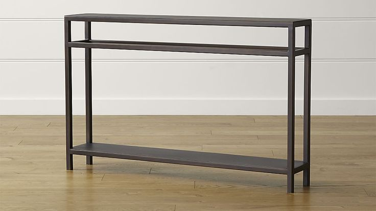 Echelon Console Table - Considering this for behind the sofa in the family room - it is not deep and could carry some of the design through... thoughts?