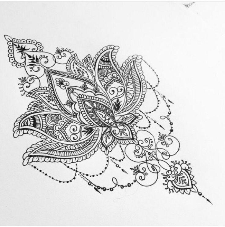 Lotus flower mandala design