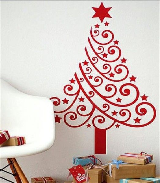 Charming DIY Ideas Simple Holliday Christmas Wall Decoration Art On Wall Christmas  Tree Picture Festive Cheer With Christmas Wall Decoration Ideas Fairytale  And ...