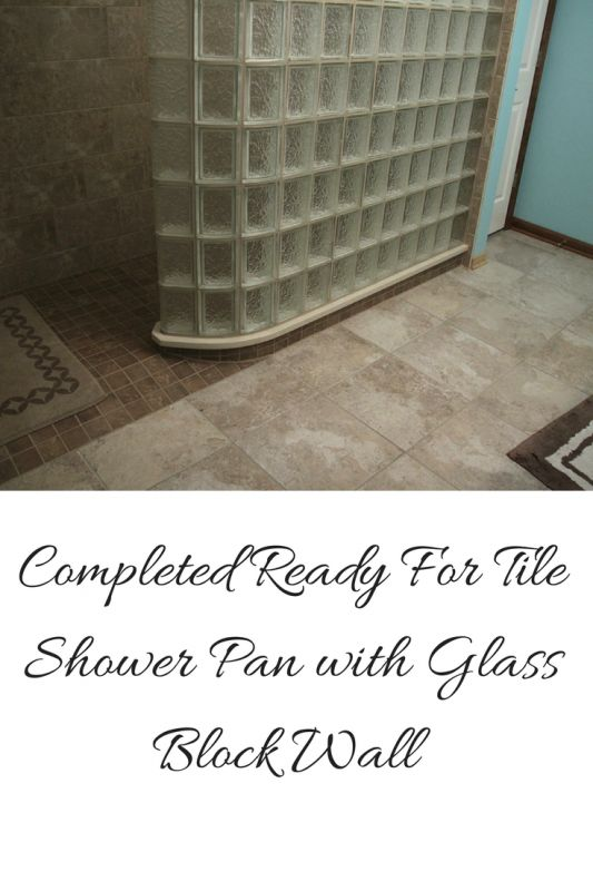 3 shower base options when you don t want to change your for Glass block options
