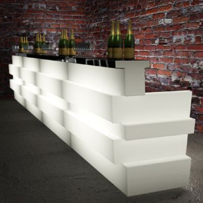 Bar modular, bufet, plastic, polietilena, luminos, rezistent, reciclabil, bar exterior, bar catering, bar evenimente, kit iluminare, bar outdoor, tejghea bar, bar workshop, statie de lucru