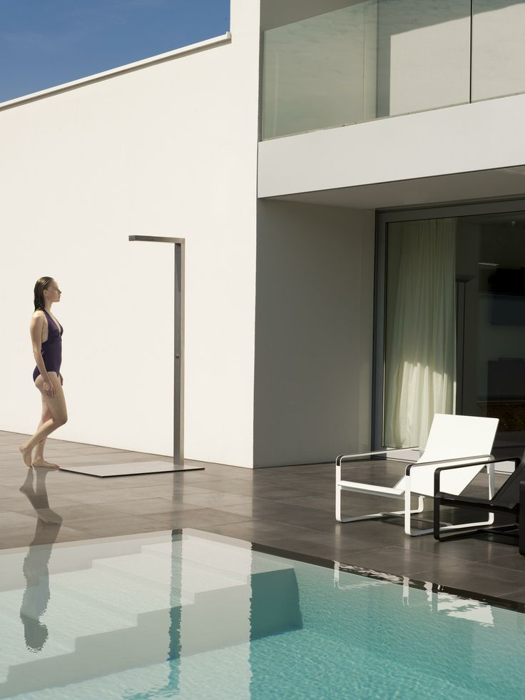 Tribu outdoor stainless steel shower  http://www.coshliving.com.au/outdoor-products/outdoor-accessories/tribu-shower/
