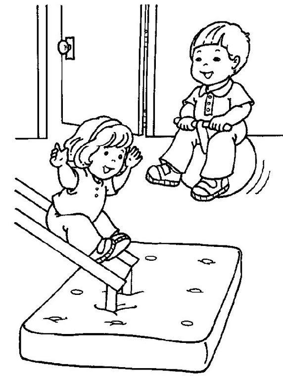 preschool gymnastics coloring pages - photo#32