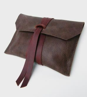 Leather Clutch. <3 this except for it's leather.