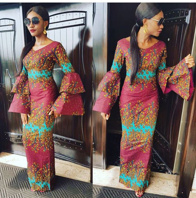 Check Out These Trendy 2 layers Sleeve Ankara Gown Styles for Ladies - DeZango Fashion Zone