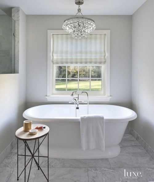 25 best ideas about contemporary white bathrooms on pinterest master bathrooms contemporary for Contemporary bathroom chandeliers