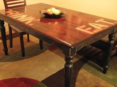 How To Refinish A Dinning Room Table Top Only