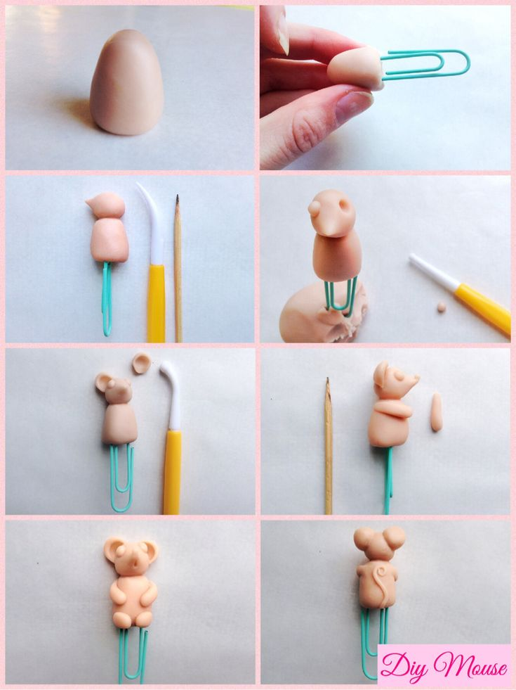 DIY Polymer Clay Mouse.