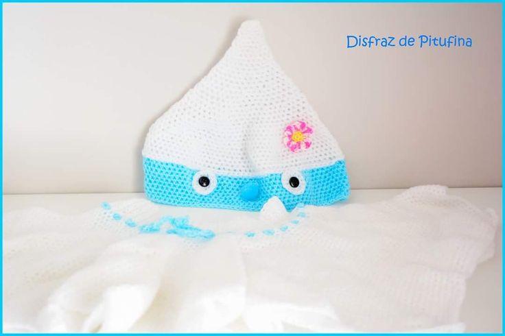 El edén de las mamalidades.  Disfraz Pitufina. Crochet.