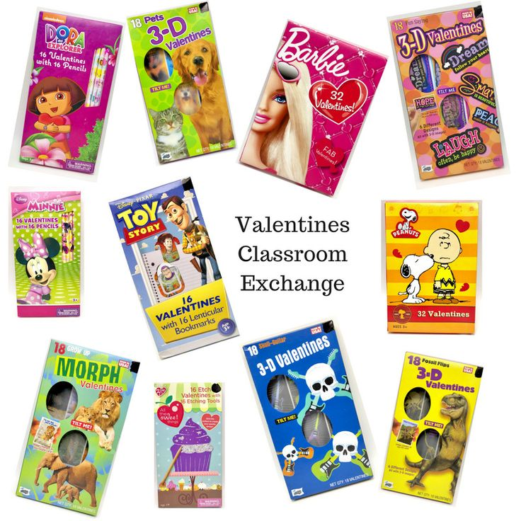 valentines day cards classroom exchange sets many styles