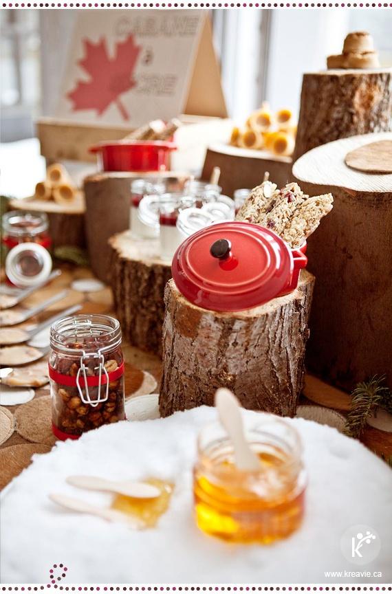 Table de douceurs | Cabane à sucre | Barres tendres à l'érable | Crédits photo : Julia C Vona | via kreavie.com