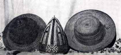 Different kind of hats made of fine bamboo splits, Nagaland