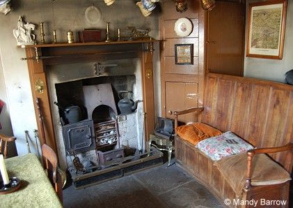 Most Victorian houses had a fireplace in every room ...
