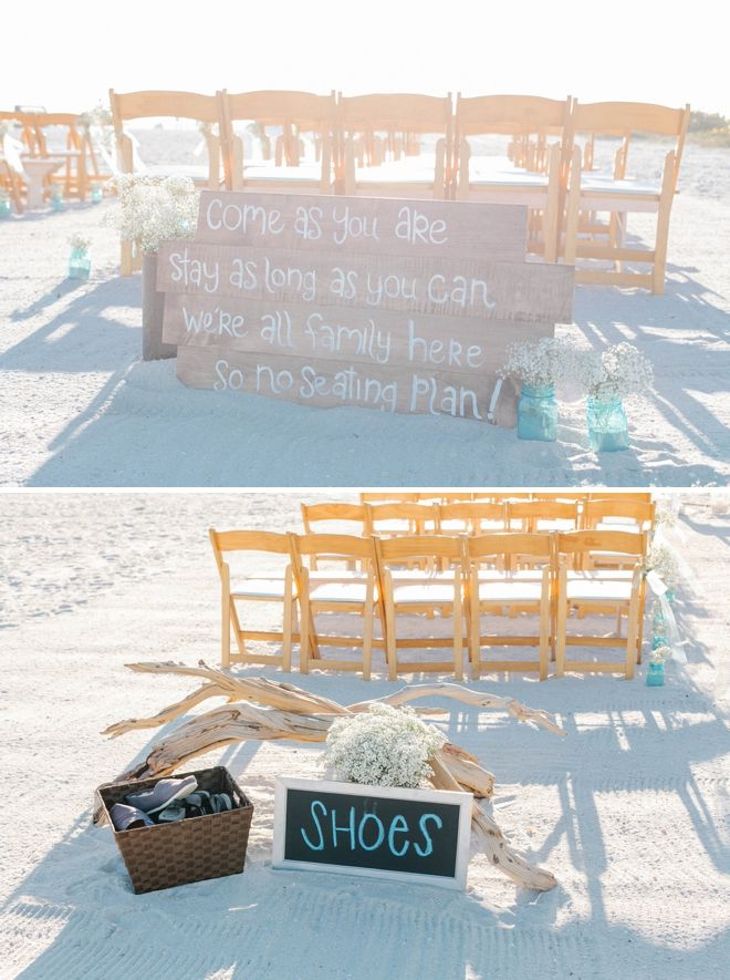 LOVING this 'no seating chart' sign!!! Come as you are, stay as long as you can, we're all family here, so no seating plan! Image: Catherine Ann Photography