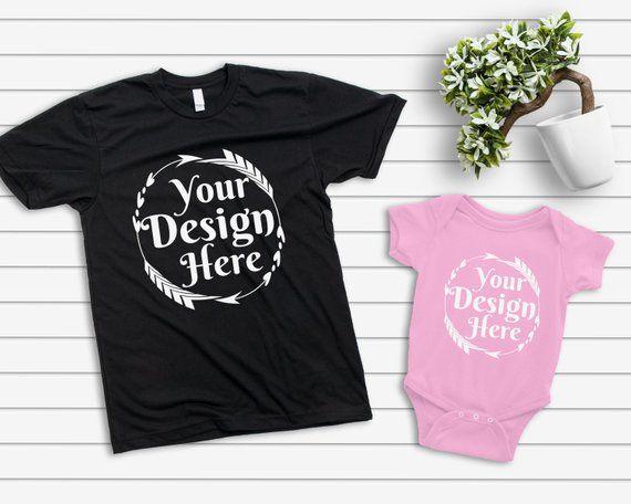 Download Mockup Tshirt Black Parent Baby Mockup Mom Kid Flat Lay Bella Canvas Rabbit Skins Blank White Shirt Child Mockup Than Photoshop Mockup Free Shirt Mockup Mockup
