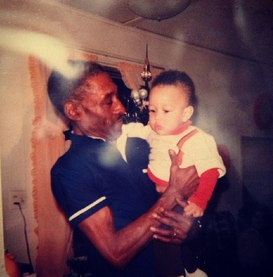 John Legend in childhood with uncle